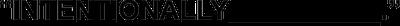 Intentionally Blank logo